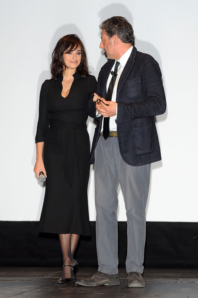 Penelope Cruz and Sergio Castellitto in Turin.
