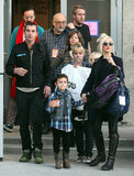 The Stefani-Rossdale family at Yo Gabba Gabba in LA.