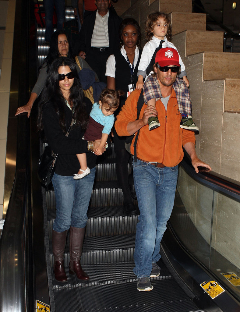 Matthew McConaughey and Camila Alves together in LA.