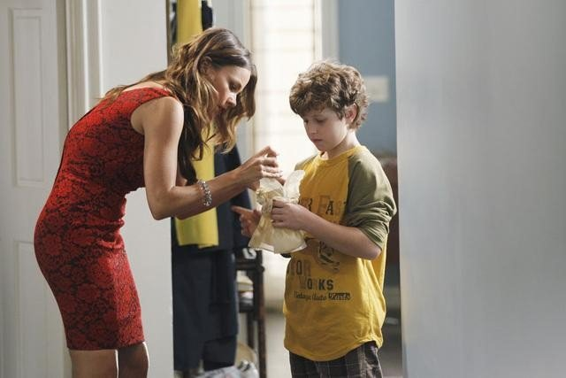 Sofia Vergara as Gloria and Nolan Gould as Luke on Modern Family.  Photo copyright 2011 ABC, Inc.