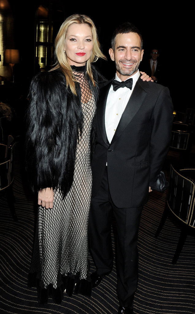 Kate Moss towered over Marc Jacobs in her sky-high stilettos.