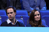 Pippa Middleton watched Roger Federer play tennis.