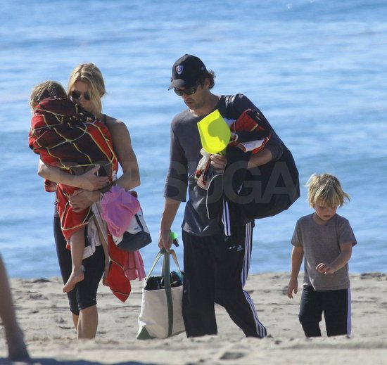 Patrick Dempsey took his family to the beach on Friday.