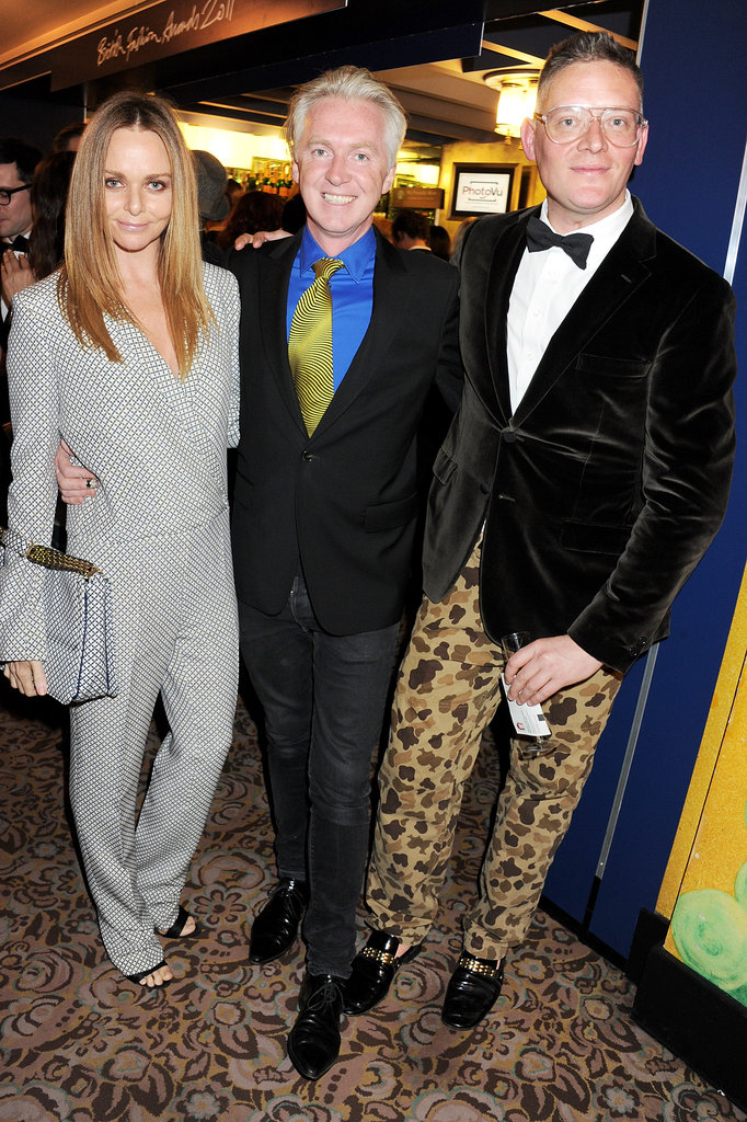 Stella McCartney greeted her fashionable friends inside the party.
