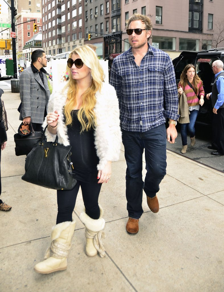 Jessica Simpson and Eric Johnson visited Gaga's Workshop inside Barneys.