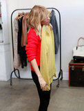 Nicole Richie checked out a yellow sweater.