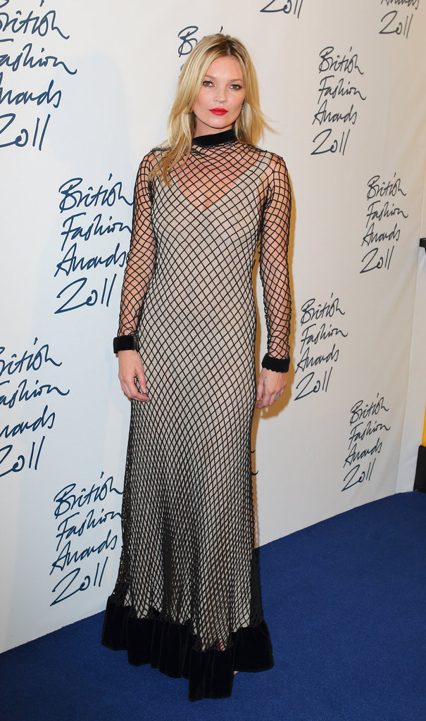 Kate Moss went for a floor-length gown.