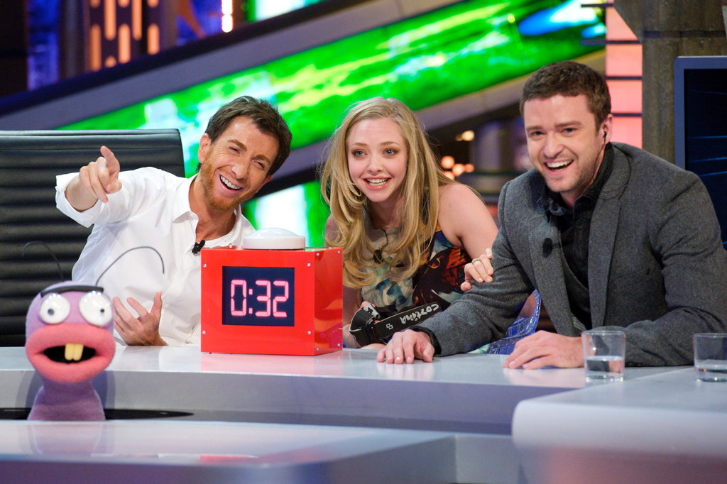 Justin Timberlake and Amanda Seyfried had a case of the giggles on El Hormiguero in Spain.
