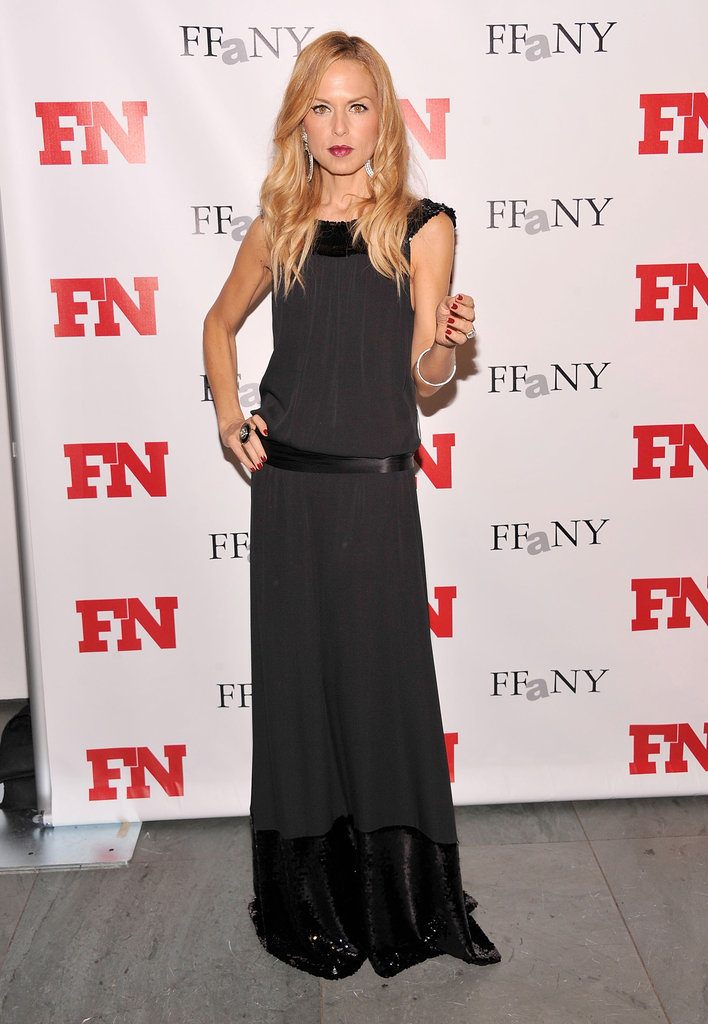 Rachel Zoe hit the step and repeat at an NYC event.