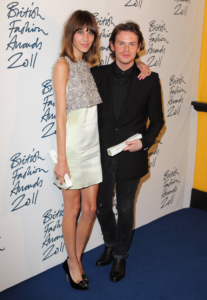 Alexa Chung and Christopher Kane supported each other at the British Fashion Awards.