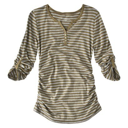 Liz Lange for Target Maternity Long-Sleeve Ruched Henley Tee ($20)