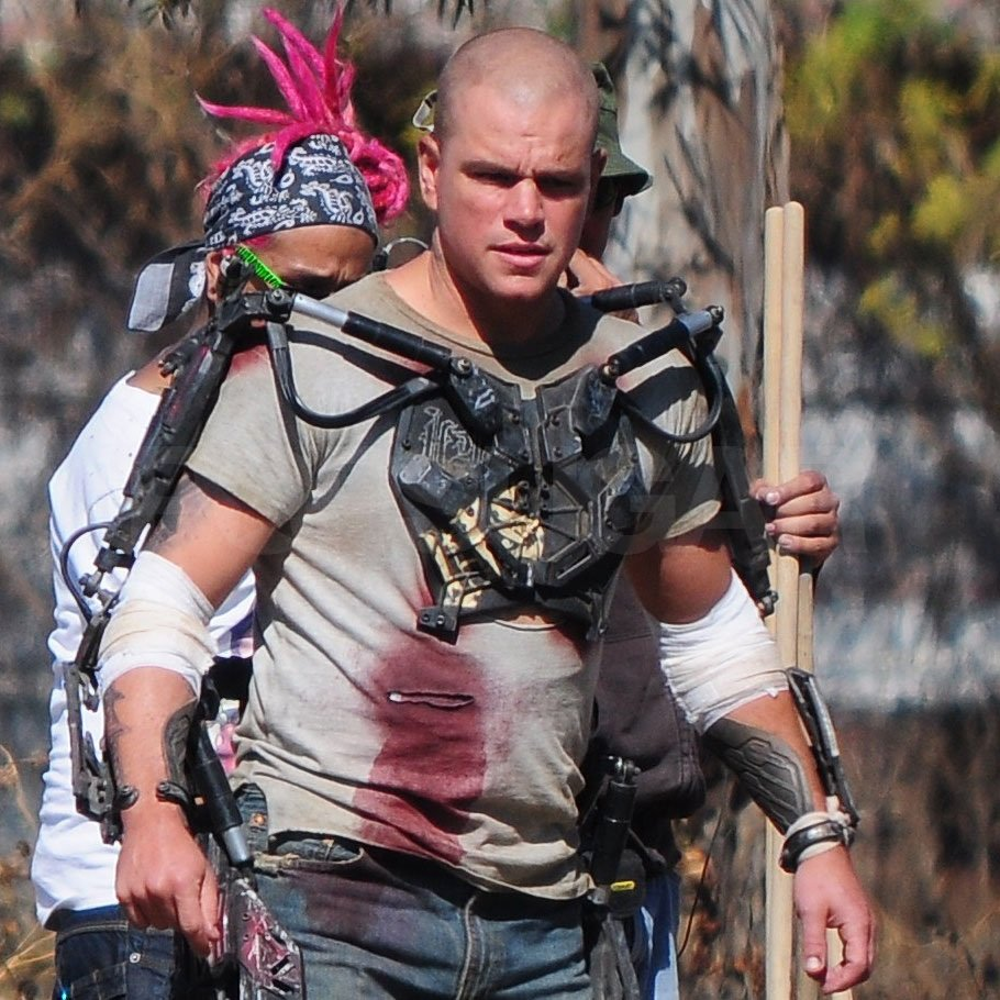 Matt Damon shot Elysium in Mexico City.