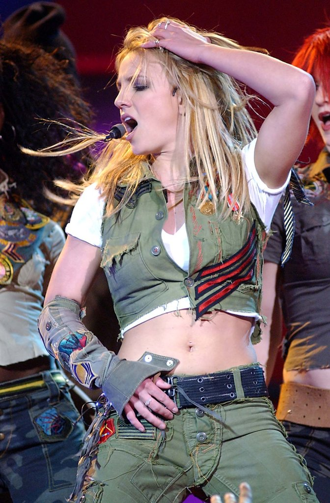 Britney Spears proved her moves at an event in Philly in February 2002.