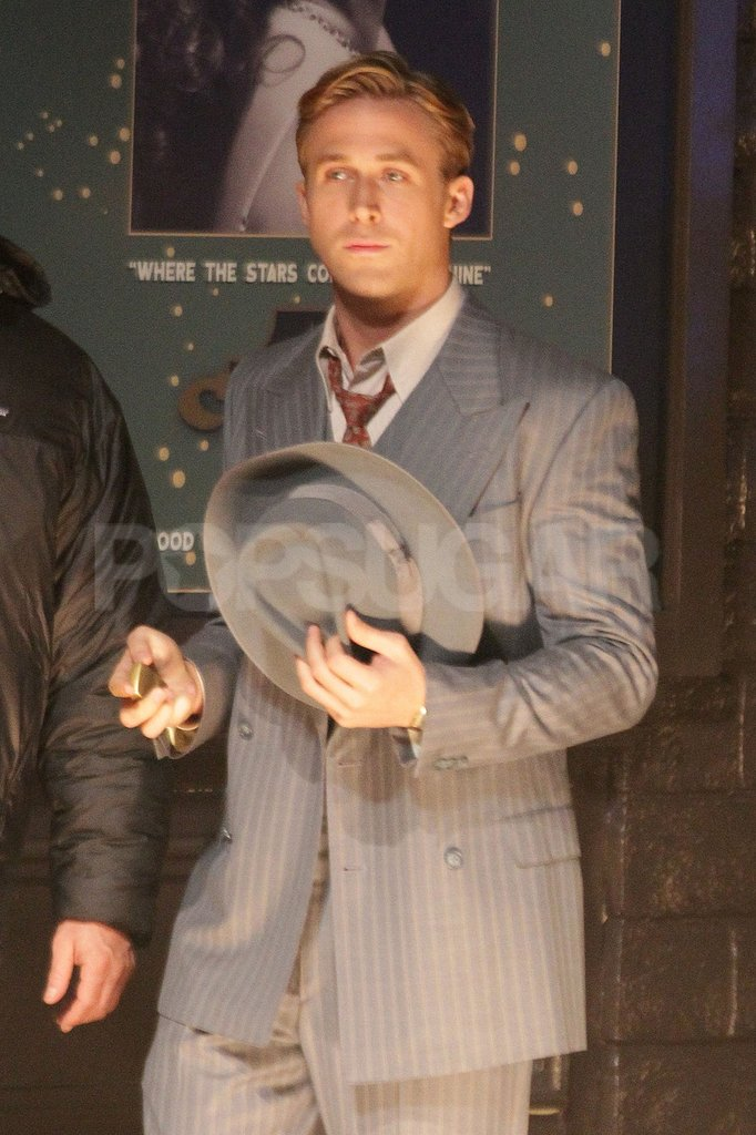 Ryan Gosling filmed scenes for Gangster Squad.