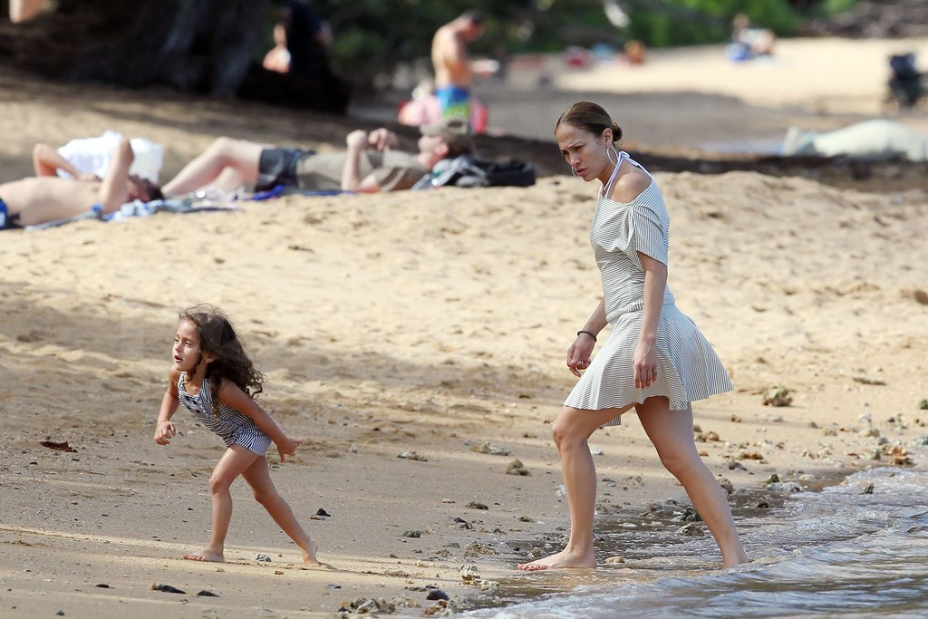 Emme Anthony and Jennifer Lopez tested the water.