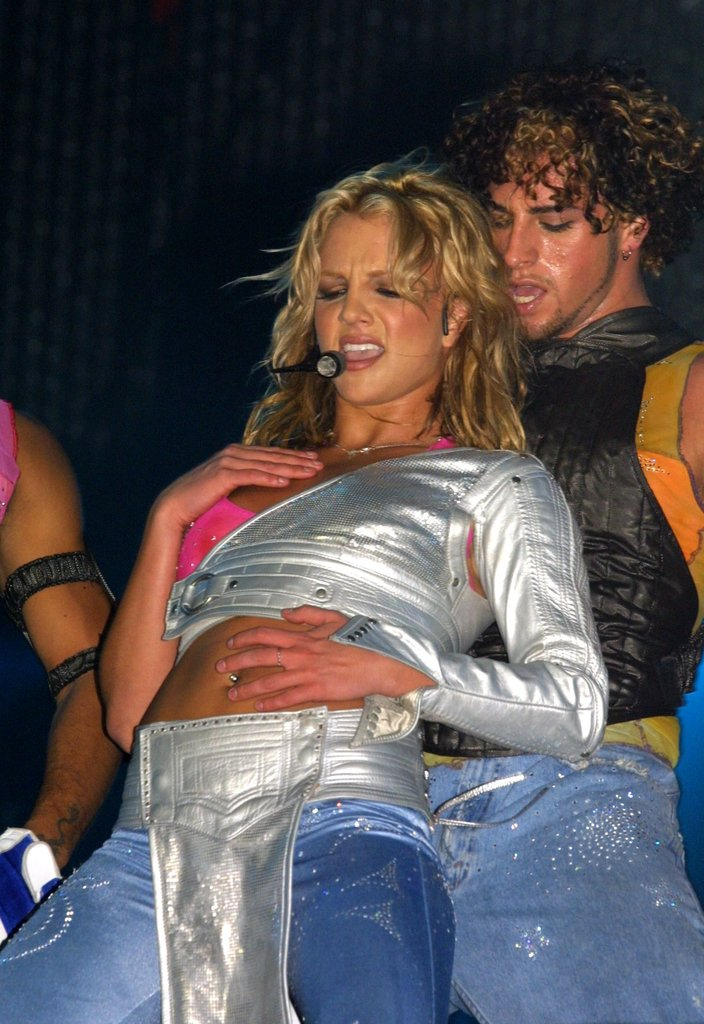 Britney wore silver to 2001's Rock in Rio concert.