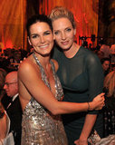 Angie Harmon and Uma Thurman caught up at the UNICEF Snowflake ball.