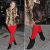 Molly Sims Wearing Red Jeans November 2011