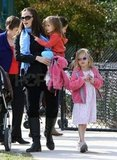 Jennifer Garner out with Seraphina and Violet.