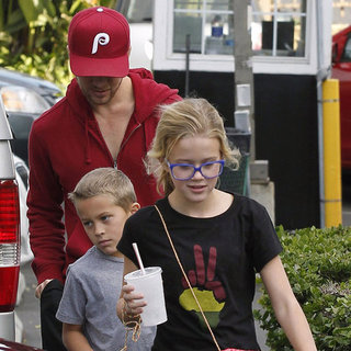 Ryan Phillippe With Ava and Deacon in LA Pictures