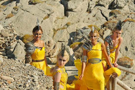 The girls wore outfits that made them look like fashionable warriors.  Photo courtesy of The CW