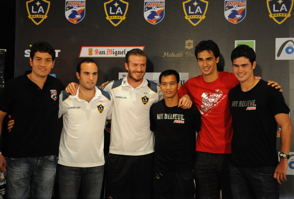 David Beckham and his Galaxy teammates were at a press conference in Manila on Dec. 1.