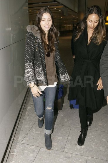 Jessica Biel at Heathrow.