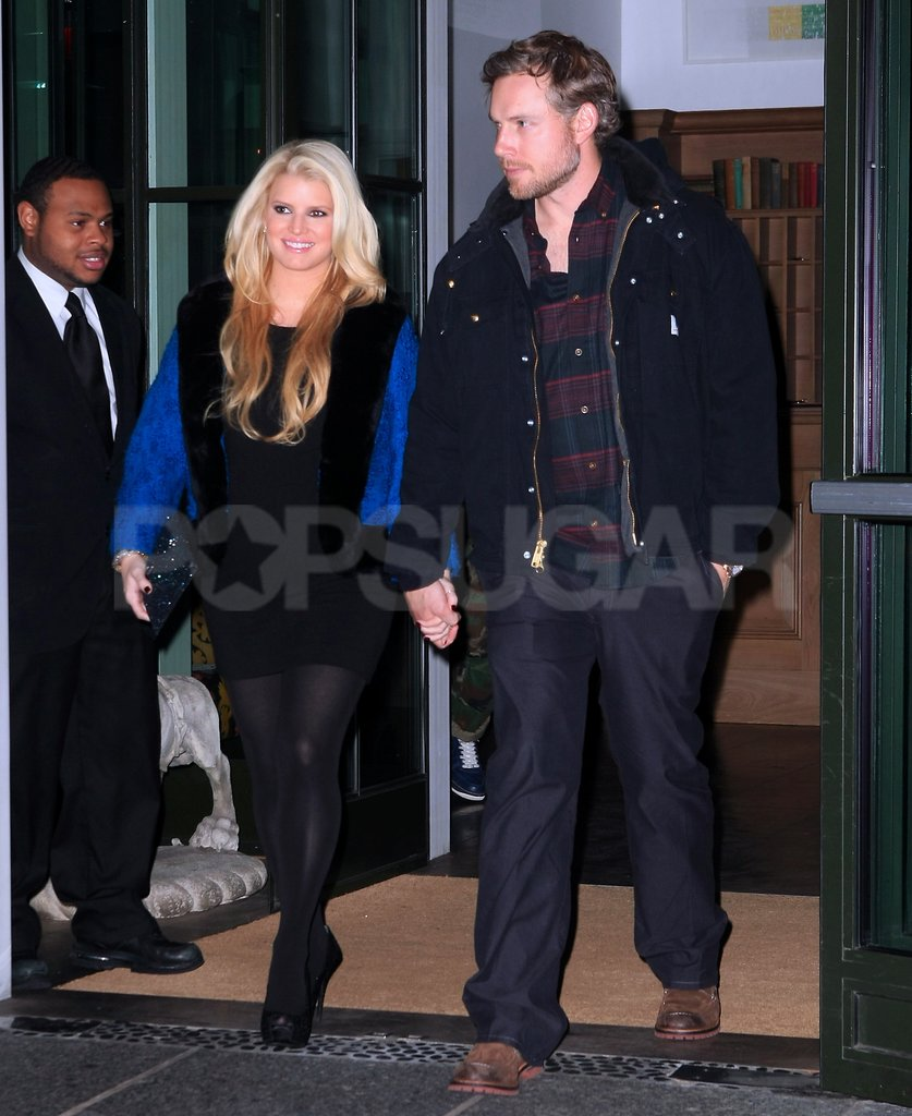 Jessica Simpson and Eric Johnson had a date night in NYC.