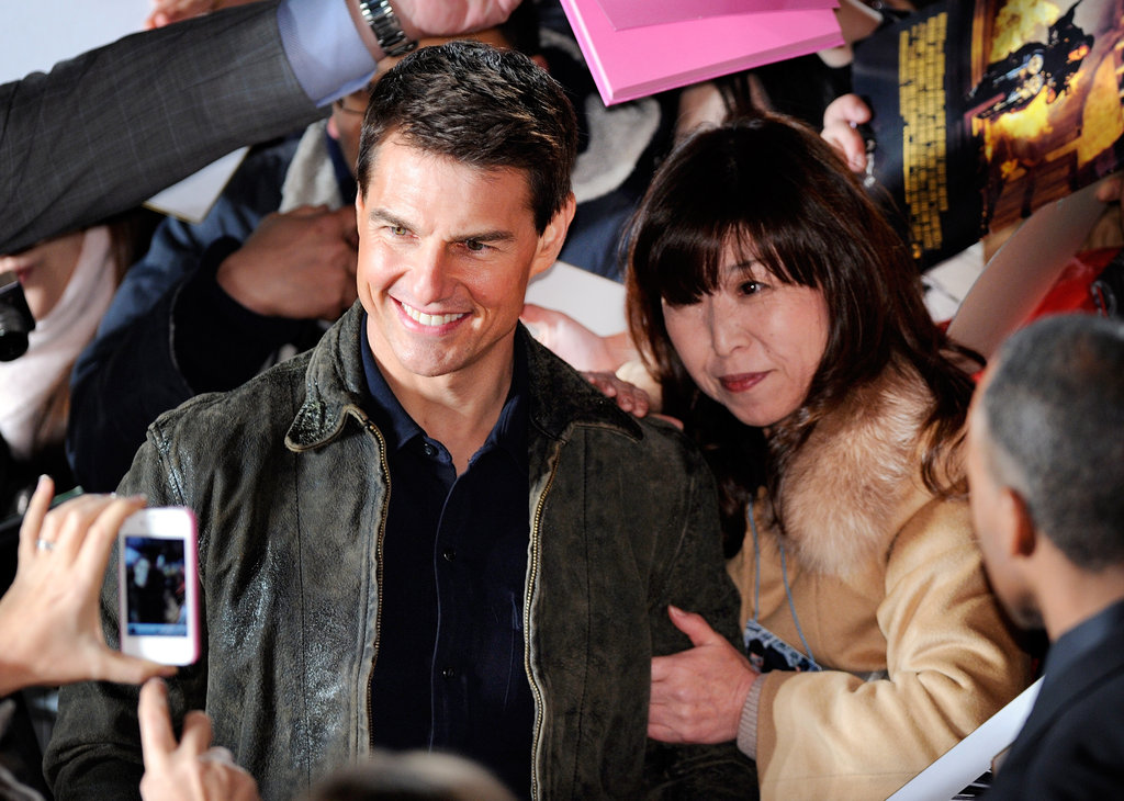 Tom Cruise spent time with his fans in Tokyo.