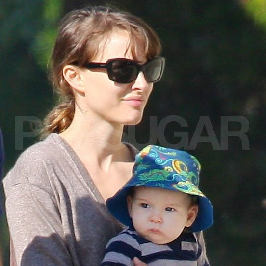 Natalie Portman with son Aleph Millepied in LA.