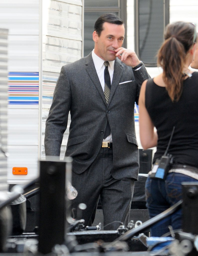 Jon Hamm in a suit for Mad Men.