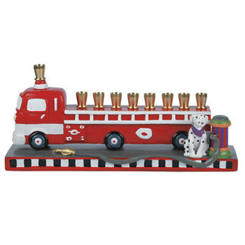 Fire-Truck Menorah ($40)