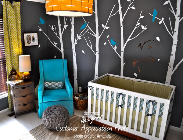 Birds in the Urban Forest Nursery Decal ($90)