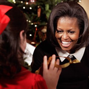 Michelle Obama Hosts Military Families For Christmas