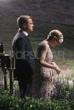 Leonardo DiCaprio and Carey Mulligan filmed a night scene for The Great Gatsby.