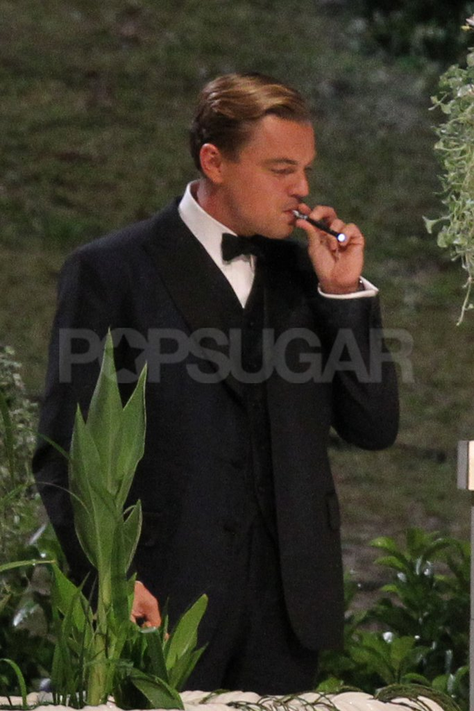 Leonardo DiCaprio smoked a cigar for The Great Gatsby.
