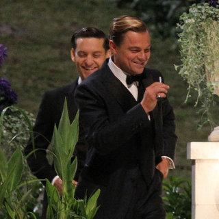 DiCaprio, Maguire, Mulligan on The Great Gatsby Set Pictures