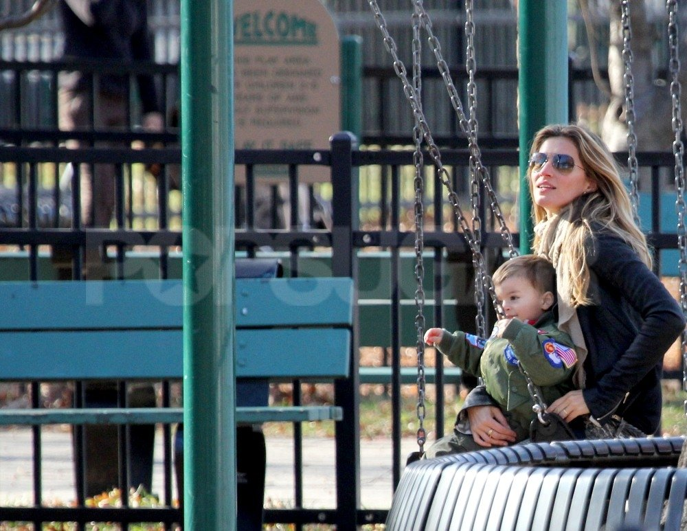 Gisele Returns Home For a Playdate With Jack and Ben