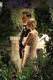 Tobey Maguire led Carey Mulligan around a garden in Sydney.