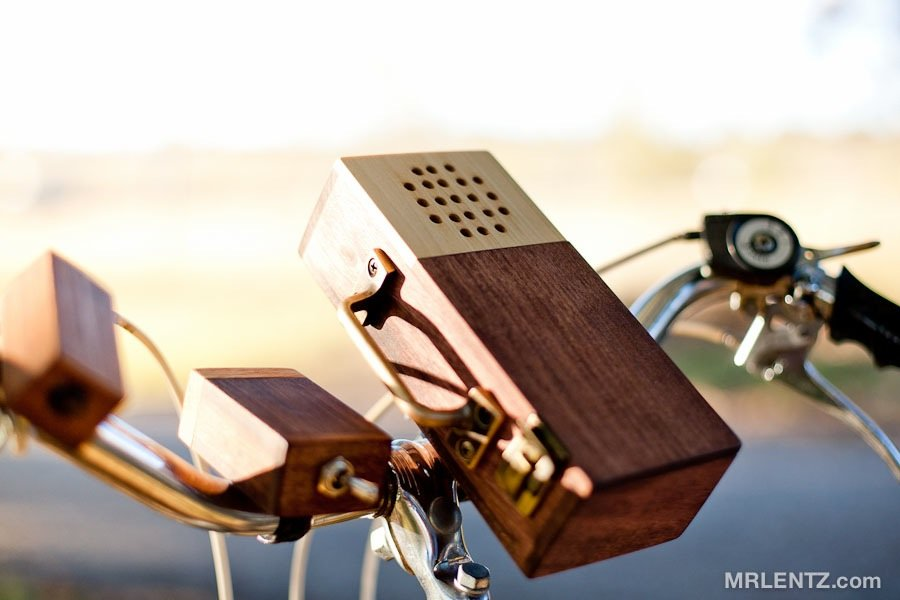 Wooden Detachable Bike Stereo ($250)