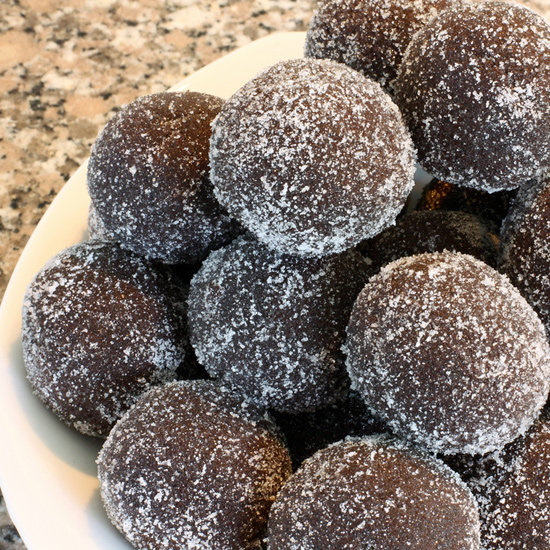 ... with a little kick, bite into one of these chocolate rum balls for