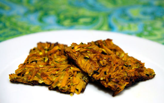 Crispy Baked Zucchini and Sweet Potato Latkes