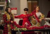 Tina, Rachel, and Quinn get to work decorating the choir room.  Photo courtesy of Fox
