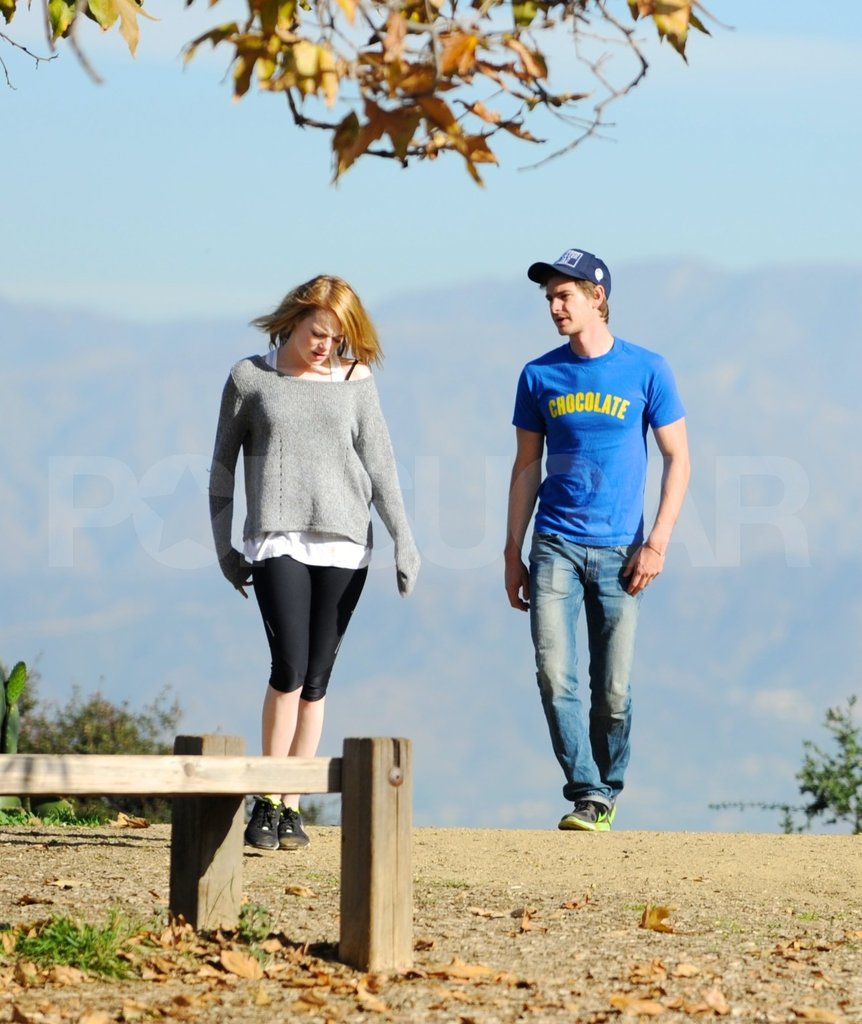 Andrew Garfield and Emma Stone took an LA hike.