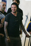 David Beckham arrived in Australia yesterday.