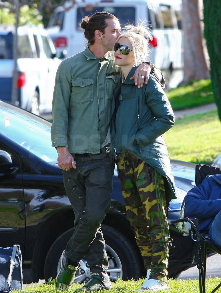 Gavin put his arm around Gwen.