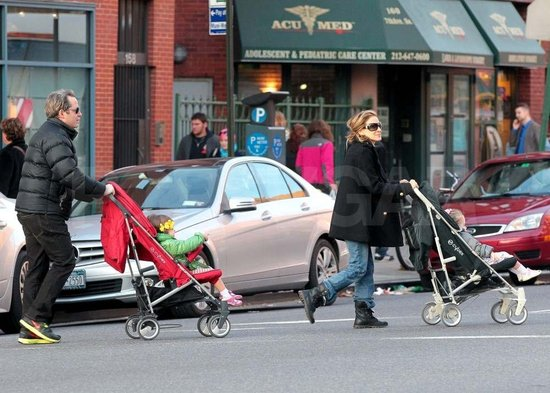 Sarah Jessica Parker and Matthew Broderick took Tabitha and Loretta out in NYC.