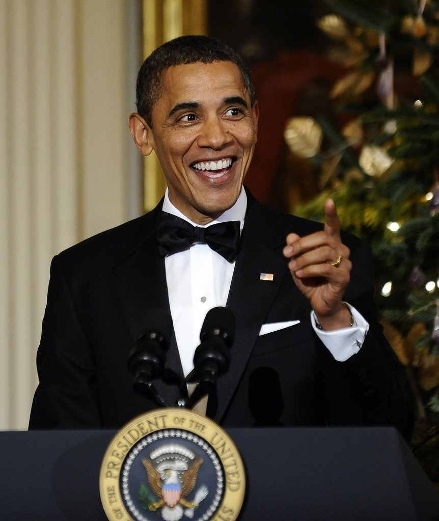 Barack Obama spoke to the 2011 Kennedy Center Honorees in Washington DC.