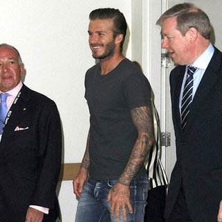 David Beckham at Melbourne Children's Hospital Pictures