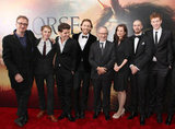 David Thewlis, Robert Emms, Jeremy Irvine, Tom Hiddleston, Steven Spielberg, Emily Watson, Toby Kebbell, Matt Milne at the NYC premiere of War Horse.